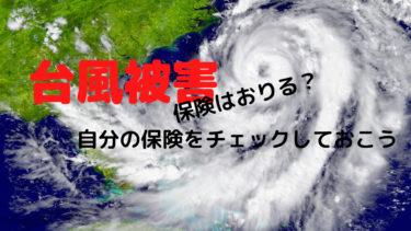 台風で保険はおりる?簡単な概要をチェックしておこう。